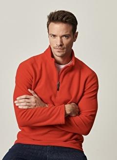 AC&Co / ALTINYILDIZ CLASSICS Standart Fit Günlük Rahat Fermuarlı Bato Yaka Spor Polar Sweatshirt 4A5221100016
